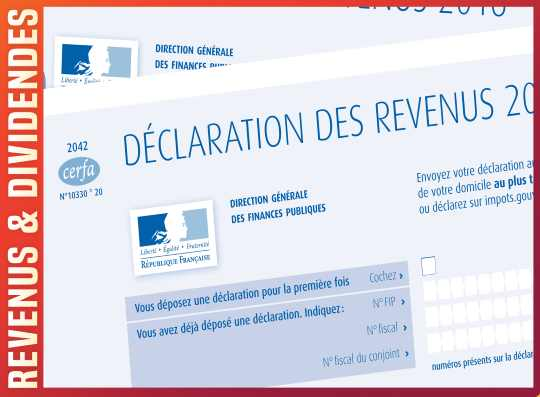 Declaration impot dividendes