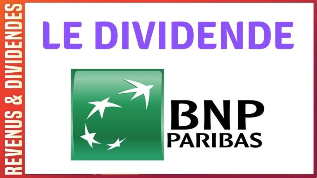 Dividende BNP Paribas action bourse rendement