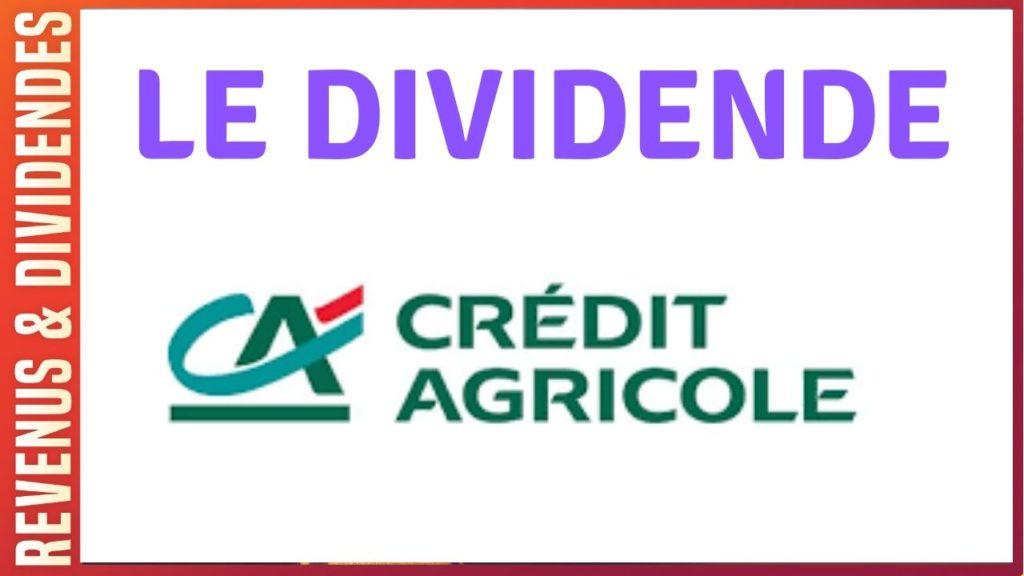 Dividende action Crédit Agricole bourse rendement