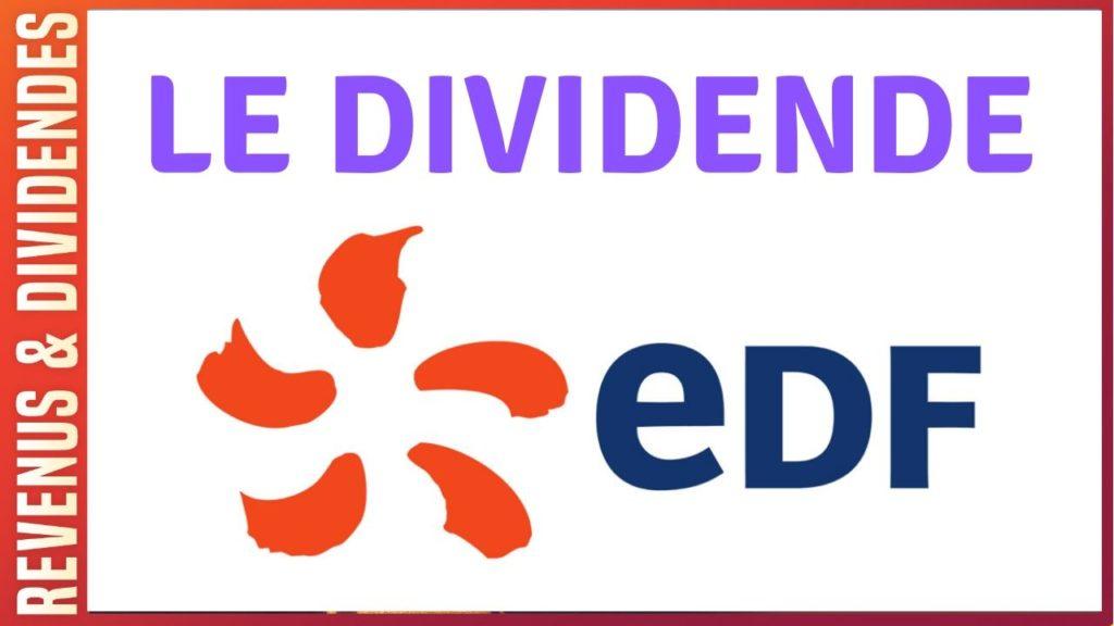 Dividende action EDF rendement bourse