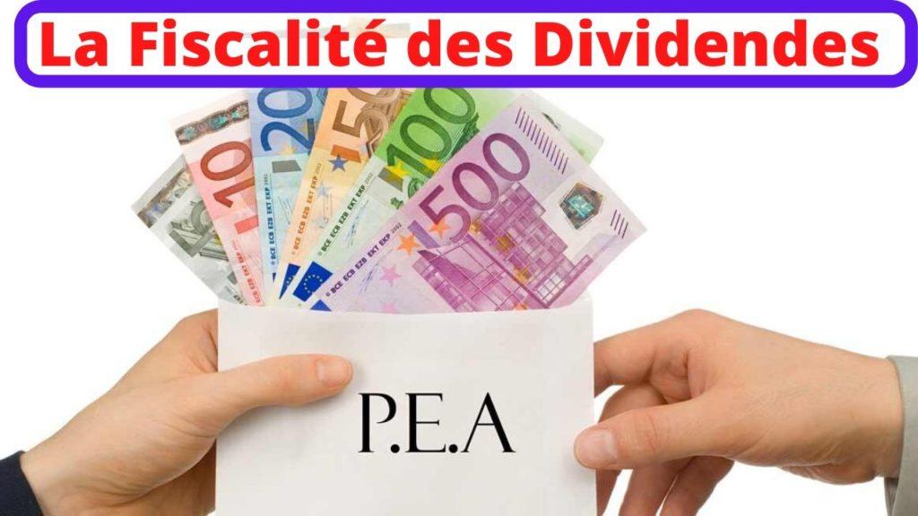 la fiscalité et les impôts de dividendes dans un PEA