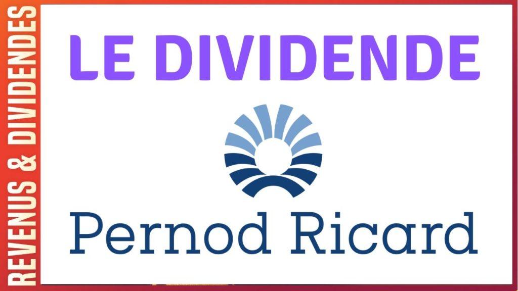 Dividende et rendement de l'action Pernod