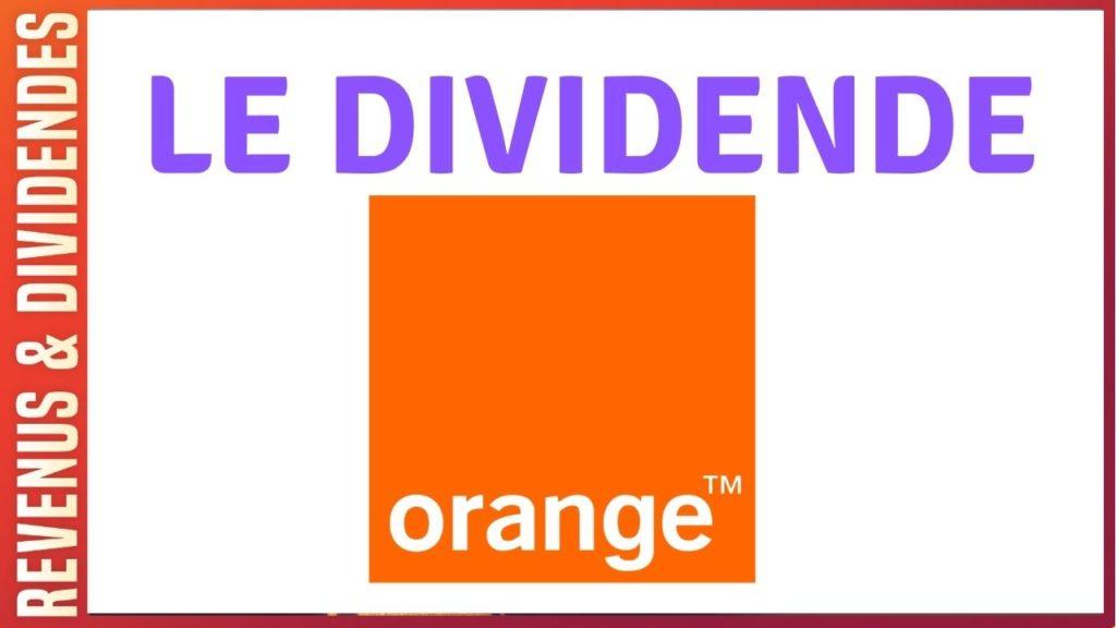 Dividende et rendement de l'action Orange