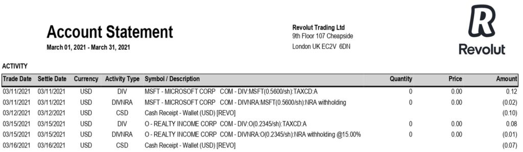 IFU Revolut bourse trading dividendes